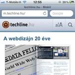 Itt a mobil techline.hu: olvassa a telefonjáról is!