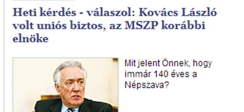 A taxisofőr, aki Kovács László hatására lett a Népszava olvasója