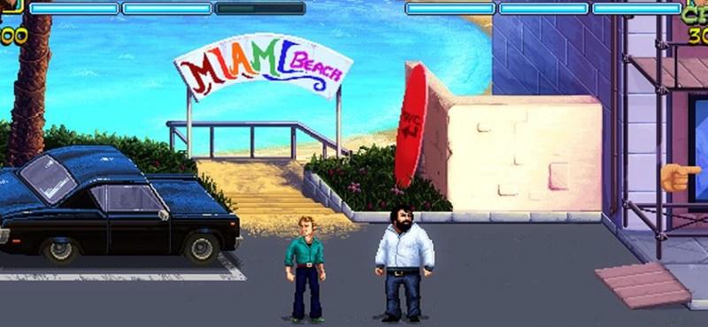 Végre elkészült a Spencer–Hill-filmekre épülő játék, be is indult a virtuális csihi-puhi