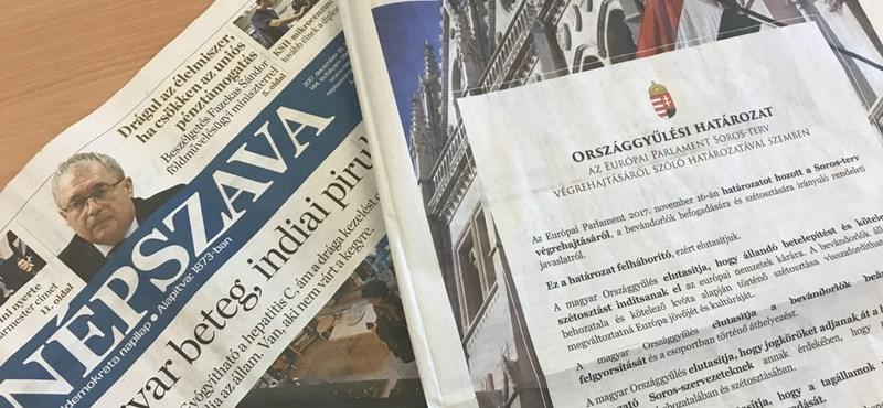 Sorosozás a Népszavában – a torz médiapiac margójára