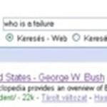 A Google szerint Bush maga a csőd