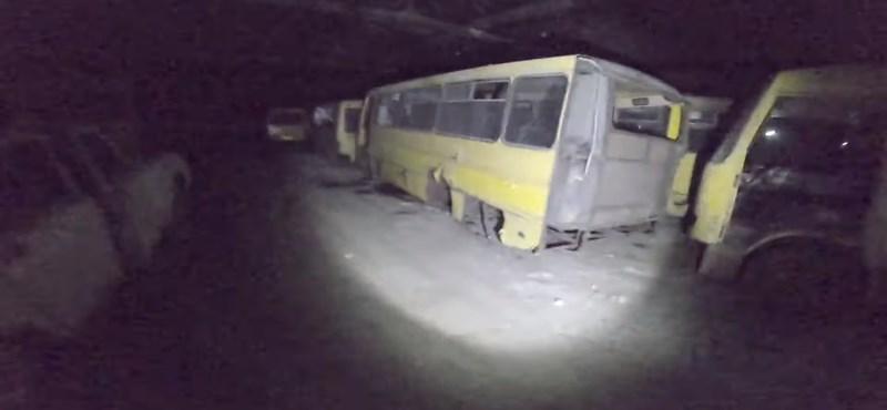 Ebben a kijevi buszgarázsban bármilyen horrorfilm leforgatható lenne – videó