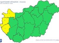 Három megyében is sok hó jöhet