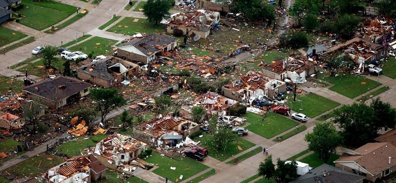 Fotók a Dallasnál lecsapott tornádó pusztításáról