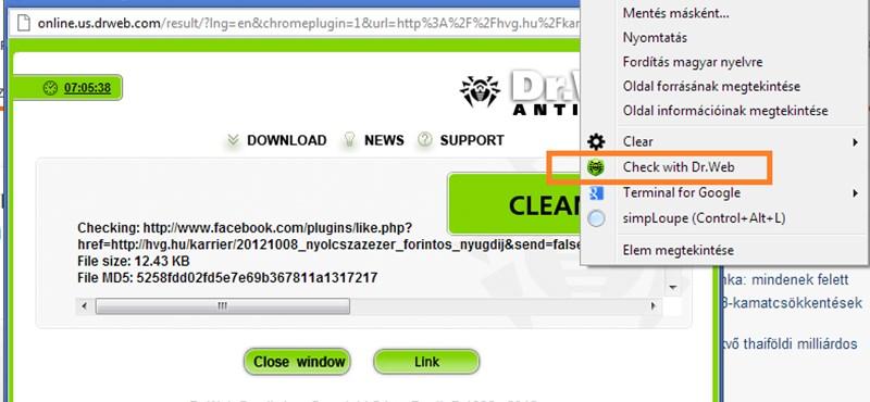 Ennél egyszerűbben nem is ellenőrizheti, veszélyes-e egy link