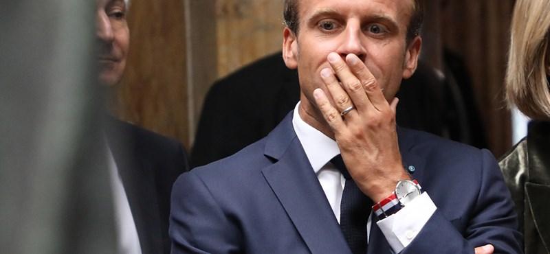 Történelmi mélyponton Macron népszerűsége