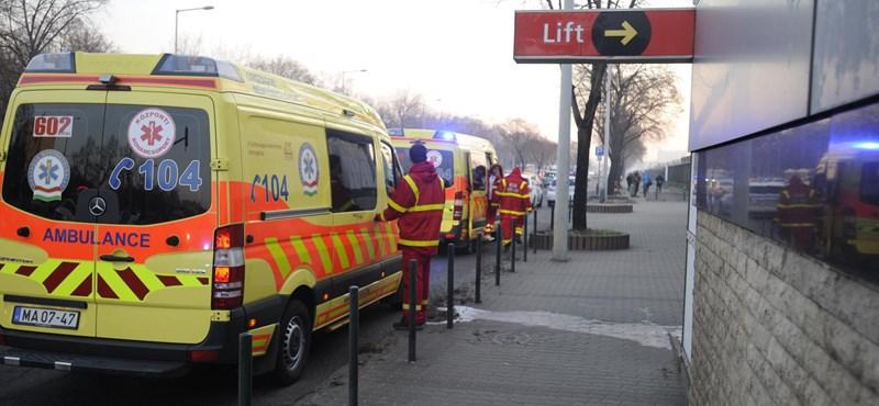 Kilenc sérültje van a Pillangó utcai metróbalesetnek