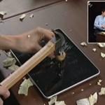 Extrém látvány: diót is lehet törni az iPaden! [videó]