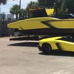 Már motorcsónak-változata is van a Lamborghini Aventadornak