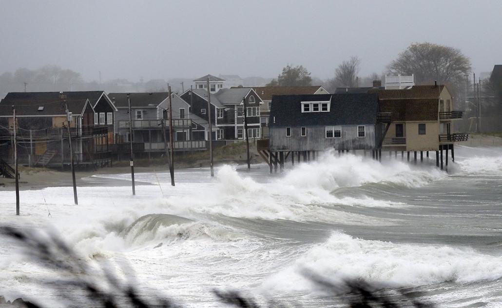 Peggotty Beach, Massachusetts- Sandy hurrikán