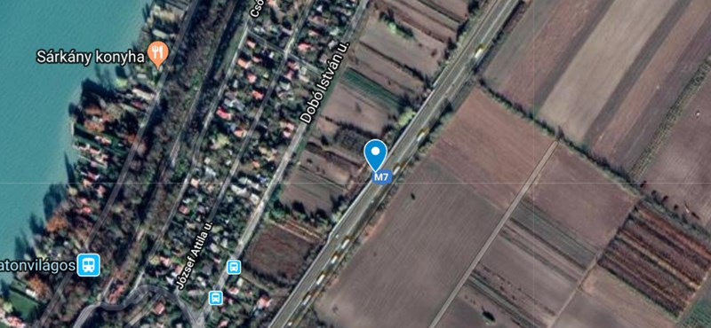 Leterelik a forgalmat az M7-esről Sóstónál