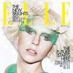 Lady GaGa a januári Elle UK címlapján