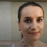 Lukácsi Katalin, az egyik szónok utoljára egy békemeneten vett részt ekkora tüntetésen