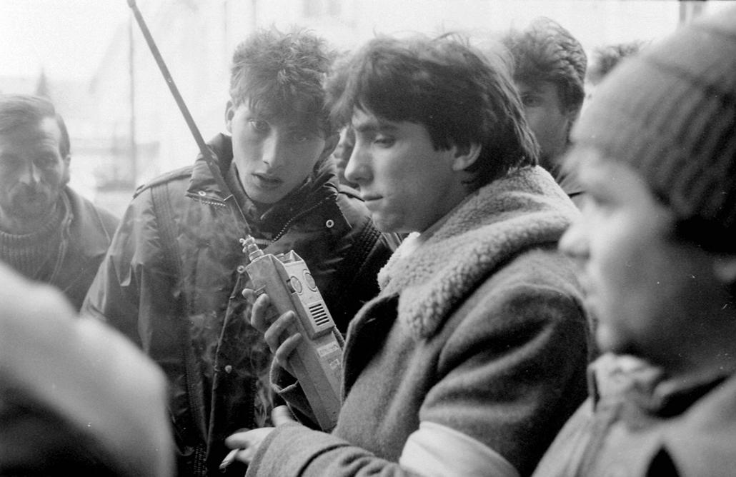 fortepan. Temesvár 1989, román forradalom - Fiatalság