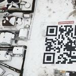 Világrekord: repülőről olvasható a legnagyobb QR kód [videóval]