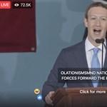 Kínos bakiparádét művelt a Facebook Zuckerberg nagy diplomasztós beszéde alatt