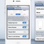 iOS 5 tipp: alkalmazásonként is megszabható, hogyan kapjuk az üzeneteket