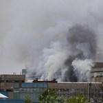 Lángolt a GE gyára Nagykanizsán - videó