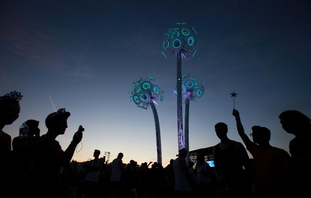 India - Kalifornia - Coachella Valley Zenei és Művészeti Fesztivál Indio városában.