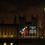 Horogkereszt a brit parlamenten - fotó
