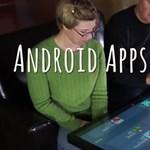 Elképesztő videón a gigantikus androidos asztal