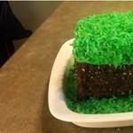 Minecraft sütemény és igazi építőkocka