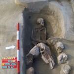 Lófej és hat koponya egy halott férfi mellett Óbudán