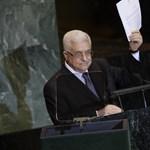 Felállva üdvözölték az ENSZ-közgyűlésen Abbász bejelentését