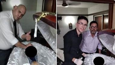 Maradona holttestével szelfiztek, posztolták is a képeket