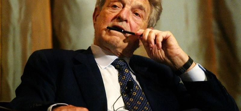 A Századvég úgy felmérte Soros György népszerűségét, hogy a fal adta a másikat