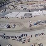 Látványos drónvideó: így halad az Apple építkezése