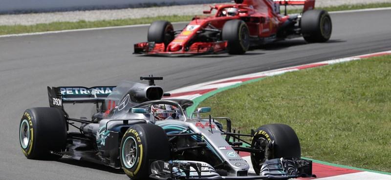 Hamilton nyerte a Spanyol Nagydíjat