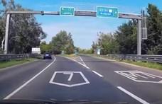 Nyolc autó ütközött az M7-esen Velencénél a Balaton felé