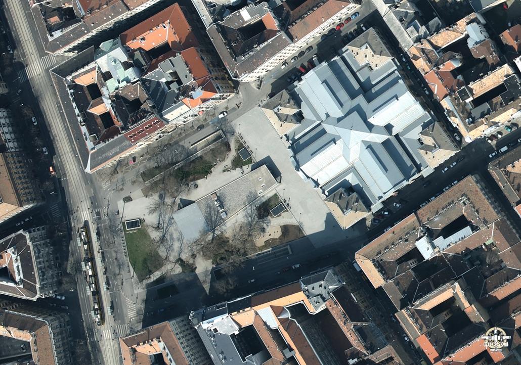 e! NAGYÍTÁS Rákóczi tér elnéptelenedett budapest légi felvételek