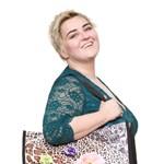 Valentin-napi öko ajándék - Makány Márta tervezte bevásárlótáska