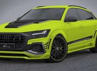 És akkor a visszapillantóban feltűnik ez a cseppet félelmetes Audi Q8-as