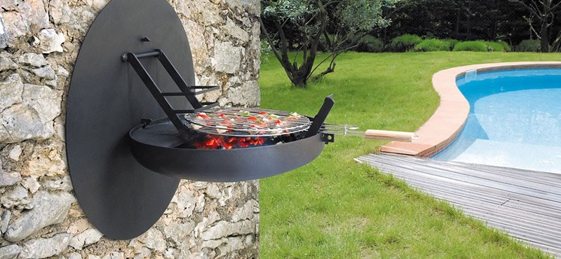 Falra szerelt grillsütő