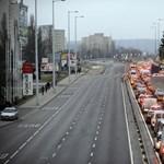 Fotó: Ilyen dugó volt ma a Budaörsi úton