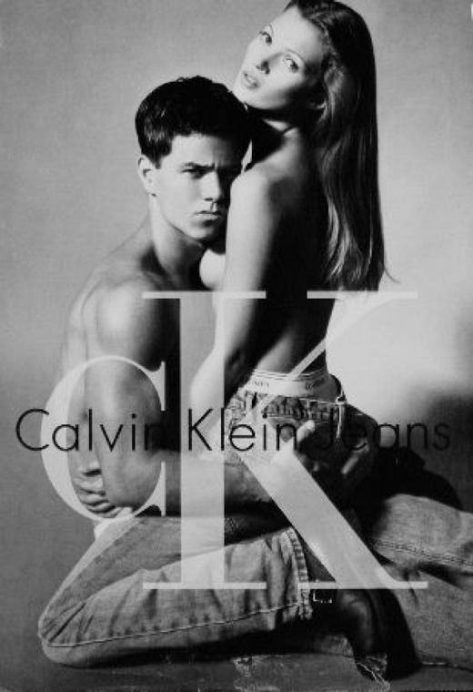 Kate Moss szupermodell 40 éves - nagyítás - Calvin Klein