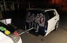 Csillagok háborúja autót fogtak a budapesti rendőrök