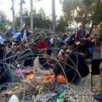 Molotov-koktélok kerültek elő a görög-macedón határon