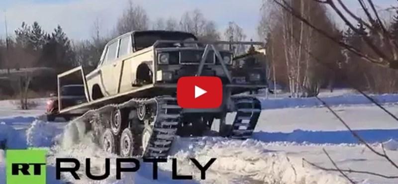 A tankra szerelt Ladánál nincs oroszosabb dolog – videó