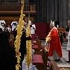 A katolikus egyház történetében először közvetítették kizárólag online a virágvasárnapi misét