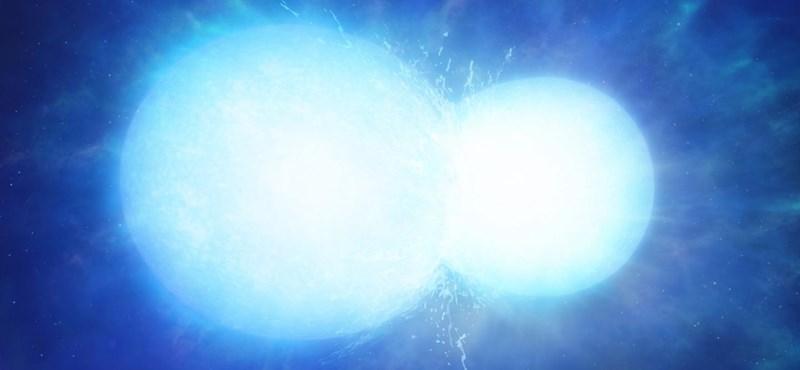 Két csillag épp egyesülni készül, úgy néznek ki, mint egy űrbéli hóember
