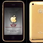 IPhone 3G arany bevonattal, gyémánt berakással