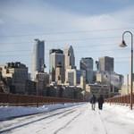 Olyan hideg van az Egyesült Államokban, hogy percek alatt fagyási sérüléseket lehet szerezni