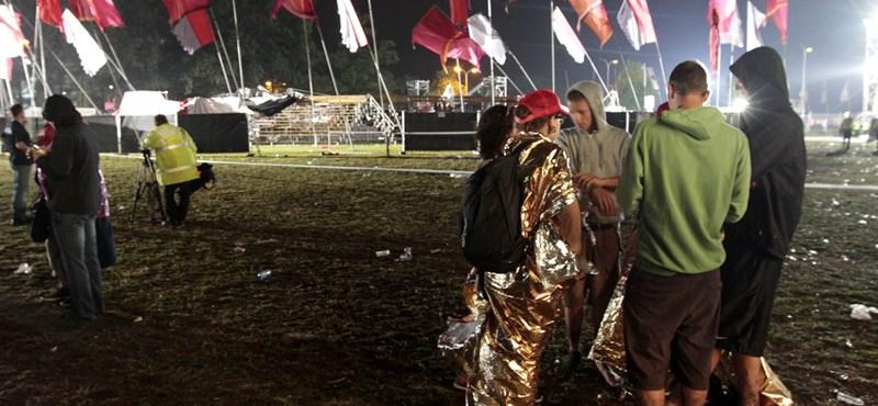 Vihar a belga fesztiválon