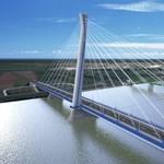 Új Duna-híd Komáromnál: csak Kanadában van egyelőre ilyen átkelő - fotó, videó