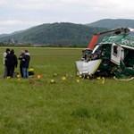 Lezuhant egy rendőrségi helikopter Eperjesen, két tűzoltó meghalt - fotók