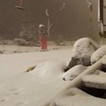 Szakad a hó a Mátrában – fotók